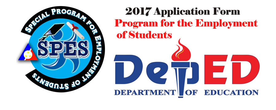 Program for the Employment of Students (SPES) 2017 Application Form