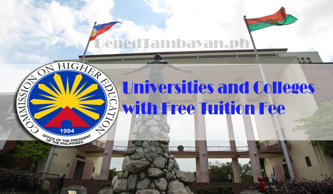 Universities and Colleges with Free Tuition Fee